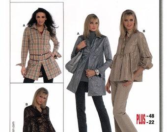 Burda 7748 Sewing Pattern for Misses' Blouse - Uncut - Size 10, 12, 14, 16, 18, 20, 22