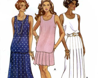 Butterick 6211 Sewing Pattern for Misses' Top and Skirt - Uncut - Size 6, 8, 10