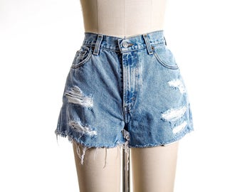 All Sizes Destroyed Ripped Distress Shorts
