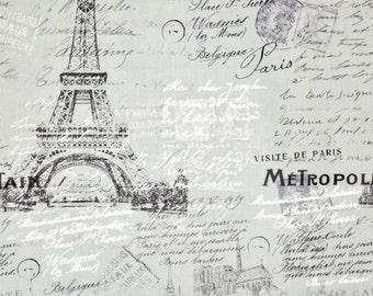 Eiffel Tower fabric, Paris  France fabric, 100% cotton fabric for Quilting crafting and all sewing projects.
