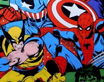 Super Heroes from Marvel fabric, cartoons fabric 100% cotton for Quilting and general sewing projects