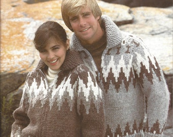 Knit Siwash Sweater Pattern, Cardigan, Pullover and Bomber Jackets, White Buffalo Book 2
