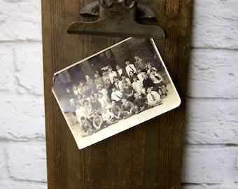 Vintage Wooden Clipboard