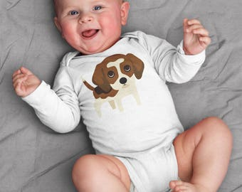 Beagle baby clothes, beagle baby bodysuit, baby boy clothes, baby girl clothes, baby gift