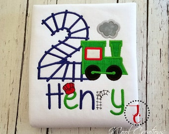 Train Birthday Shirt - Boys Birthday Shirt, Train Shirt, 1st Birthday Outfit, Train Party, Birthday Boy, Number Shirt, Train Party, Toddler