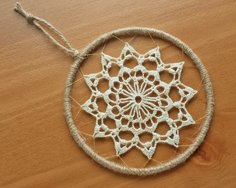 Yellow beige weaving tapestry kits how to etsy studio for Dreamcatcher weave patterns