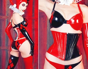 XS Underwear Harley Quinn from Artifice Red/Black PVC