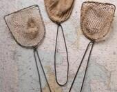 Vintage Minnow Fishing Nets - Great Nautical Decor