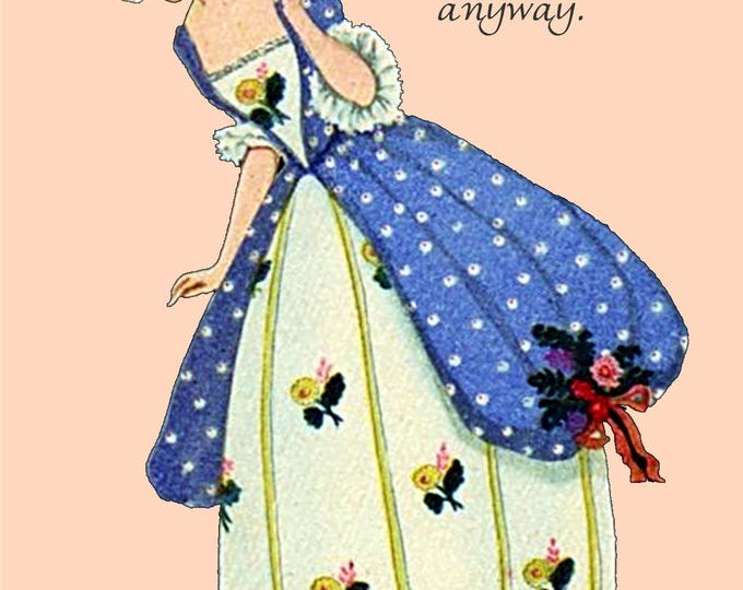 Marie Antoinette Card ~ You're How Old? Oh, Well... Happy Birthday Anyway ~ Funny Postcard ~ Pretty Girl Postcards ~ Funny Quote
