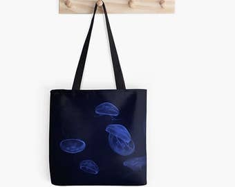 Blue Moon Jellyfish Photography Tote Bag