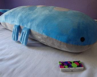 HUGE 5ft Wailord Body Pillow Plush