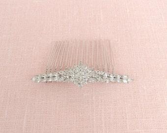 Bridal Hair comb, Crystal Wedding comb, Bridal Jewelry, Leslie Bridal comb