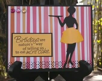 Eat More Cake Birthday Card