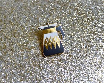 Coffee Carafe Enamel Pin V2- Black & White - Pyrex Inspired - Retro Pin - Lapel Pin - Pin Badge - Cloisonne Pin - Hard Enamel - Coffee Lover