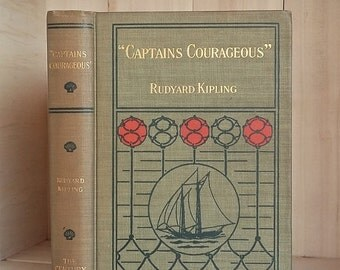 Captains Courageous Rudyard Kipling First Edition Rare Captains Courageous by Rudyard Kipling