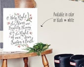 PRINTABLE  Oh Holy Night : INSTANT DOWNLOAD 8.5x11