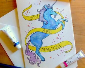 "Unicorn ""You Are Magical"" Notecard"