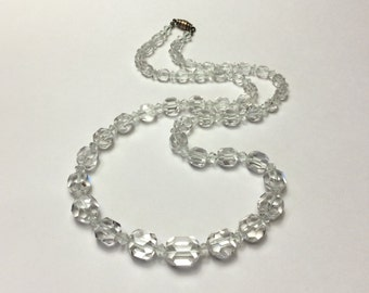 "Vintage 23"" Ready-To-Wear Graduated Crystal Necklace"