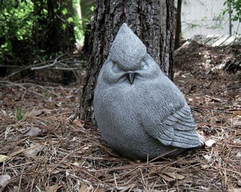 BirdStatue, Concrete Bird, Outdoor Concrete Statues, Bird Figure, Garden Decor, Concrete Garden Statues, Cement Statue, Fat Bird, Large Bird