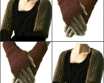 Outlander Inspired Claire's Shoulderette Shrug and Fingerless Gloves Set Digital PDF Knitting Pattern not a finished product