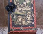 Graphic 45 Handmade Journal - Alice in Wonderland - Halloween in Wonderland
