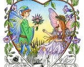 The World of Fairies 24-image  Printable Coloring PDF