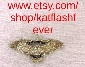 American Badass Necklace Silver