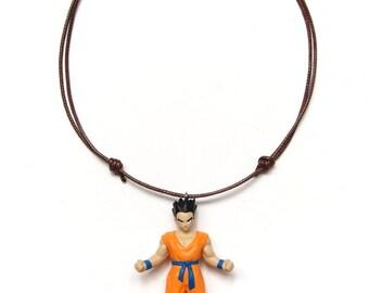 Yamcha - found figure upcycled necklace