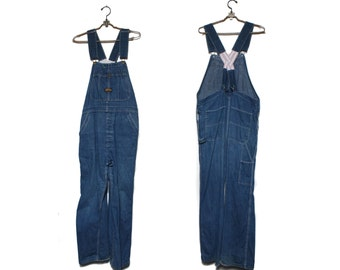 SML | 1960's Low Back Sanforized Denim Overalls