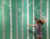 """Birch Tree Wall Decals with Branches Sticker Set 