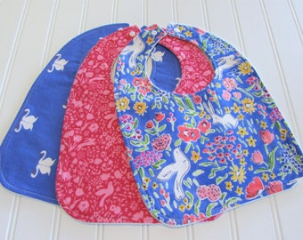 Baby Bib/Infant--18 mo./Set of Three Bibs/Sommer/Organic Fleece Back