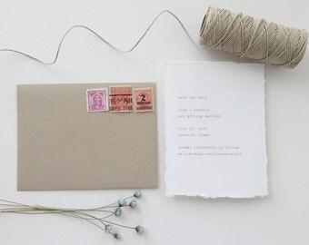 Vintage Typewriter Wedding Save the Date - Sample