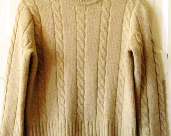 J Crew Lambswool Mock Turtleneck Sweater, S - M, Petite, Vintage