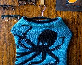 The Kraken Reversible Cowl, Handknit