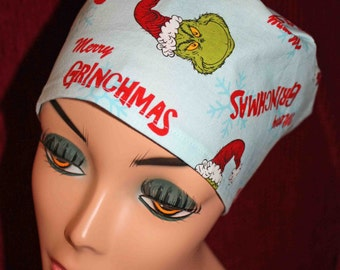 Grinchmas Holiday Cap (biker/chemo/surgical)