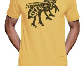 Running Bee T Shirt Jogger Marathon Unisex T Shirt Honey Gifts Nature T Shirt Funny Mens T Shirt Womens Graphic Tees Kids tshirt Men tshirt