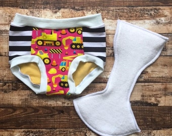 Tractor trainers/ pink tractors toddler trainers/ potty training underwear/ training pants/ Ready to ship