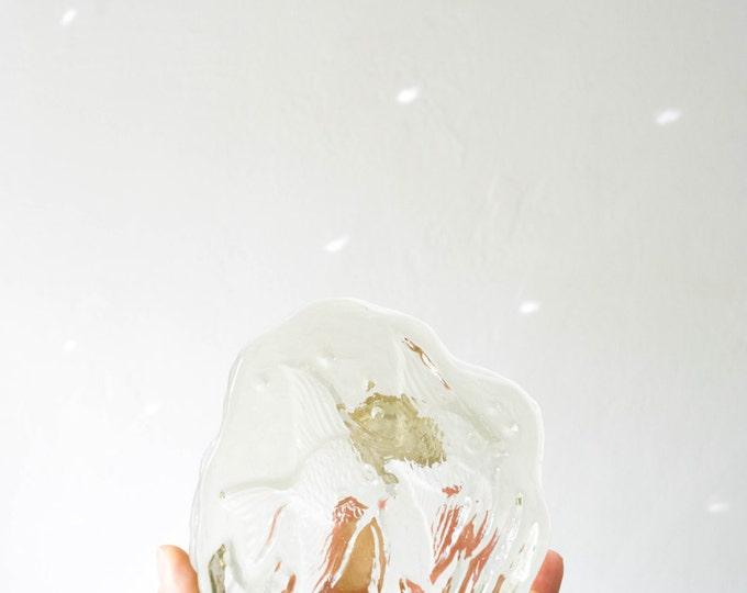 Murano Italy Mid Century Glass Fish Paperweight // Scandinavian Modern Home Office // Vintage Fish Bowl // Danish Modern Desk