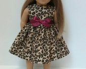 18 Inch Doll-American Girl Leopard Print Dress with optional beret