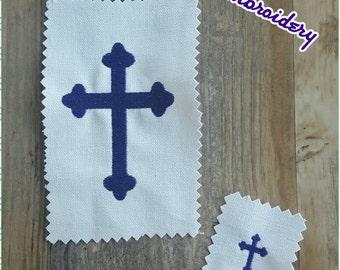 Cross Embroidery Design Christian 1x1 2x2 3x3 4x4 5x7 6x10 Fill Stitch