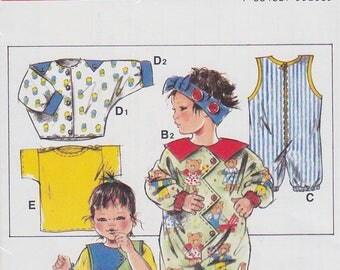 1980s Zany Zig Zag Baby or Toddler Romper or Playsuit Vintage Pattern, Neue Mode S 55268, Bubble Shape, Bat Wing Sleeves, T Shirt, Jacket