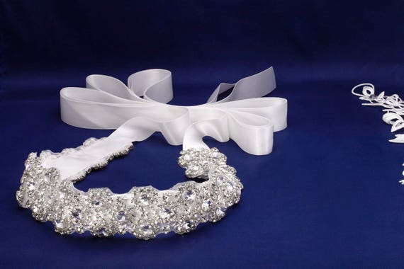 Bridal Sash, Wedding Sash, Bridal Belt, Crystal Sash, Rhinestone Sash, Jeweled Belt, Wedding Gown Belt Beaded Bridal Belt Bridal Dress Sash