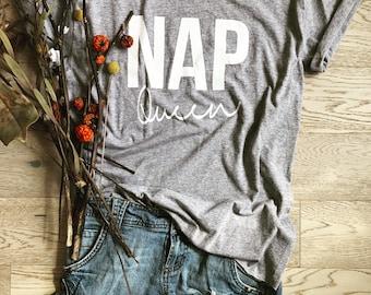 Nap Queen. Women's Wide Neck Shirt. New Mom Gift Shirt. Women's T Shirt. Women's Relaxed Fit. Mom To Be Shirt. Preggy Shirt. Gift T Shirt.