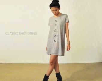 Vegan Black & White Mesh Long Shirt / Shirt Dress ( Size XS / S / M )