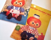 Vintage Hallmark Inflatable Raggedy Ann and Raggedy Andy dolls