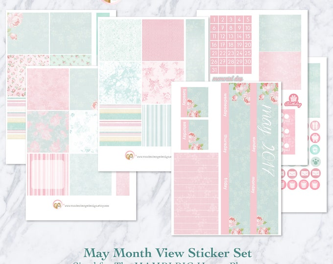 BIG Happy Planner May Month View Kit - sized to fit the MAMBI Big Happy Planner