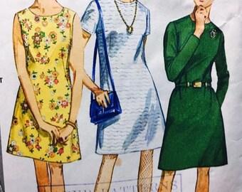 Vintage 1960's A-line dress Simplicity 7510