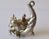 Reserved.....Silver Cow Jumped Over the Moon Charm