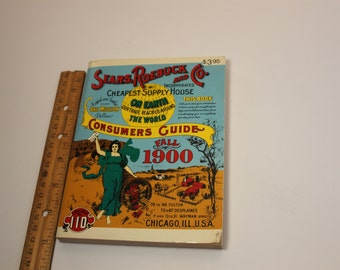 Vintage Sears and Roebuck Book,Fall 1900,Sears Consumers Guide,1970's,Antique Guide,Vintage book,Antique Book