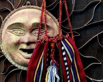 Vintage 1970's Ethnic Woven Back Pack, Bohemian Back Pack, Boho Woven Bag, Hippie, Folk, Tribal